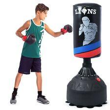 Flicker Junior Standing Boxing Punch Bag Ball & Mitts Gloves Kit