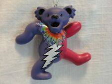 "GRATEFUL DEAD DANCING BEAR ORNAMENT 3"" PURPLE AND PINK BEAR"