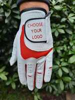 Personalised Golf Gloves Mens Leather All Weather Free Postage