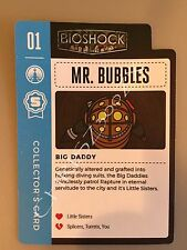 Bioshock Big Daddy Mr. Bubbles Collector's Trading Card 01 1st in Series Rapture