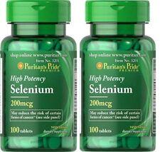 2X Selenium 200 mcg x 100 ( 200 ) Tablets Puritans Pride * AMAZING PRICE *
