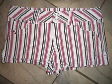 1227  Candies Pink and Black Striped Swim Surf Shorts 9