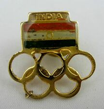OLD OLYMPIC PIN INDIA NOC OLYMPIC COMMITTEEE UNDATED 1980s GENERIC OLYMPIAD RARE