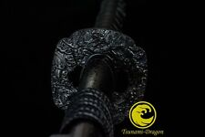 Handmade Clay Tempered L6 steel Japanese Samurai Katana sword razor sharp Choji