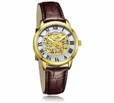 REDUCED Genuine Rotary GS03096 Men's Skeleton Automatic Mechanical Watch RRP£179