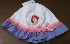Disney Sofia the First Toddler Girls Bucket Hat One Size White/Pink/Blue New