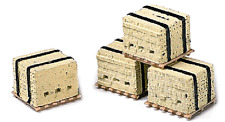 Model RailStuff # 530  Banded Bricks on Pallets pkg(4) Yellow  HO Scale MIB