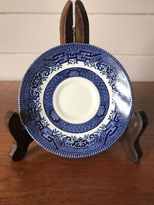 Vintage Blue Willow Churchill Porcelain Orphan Replacement Saucer England