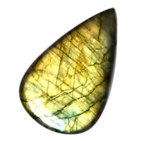 Cts. 95.25 Natural Full Yellow Fire Labradorite Cabochon Pear Loose Gemstone