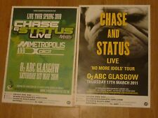 Chase And Status Scottish tour Glasgow concert gig posters x 2 CHASE & STATUS