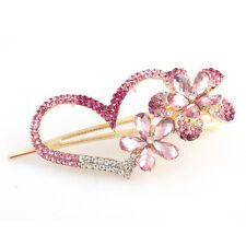 K9 Fashion Love heart Jewelry Crystal Hair Clips Hairpin