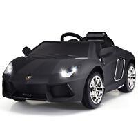 Electric 12V Kids Ride On Toy Car Lamborghini Licensed Children Gift Black
