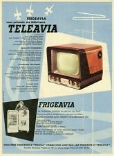 """TELEAVIA / FRIGEAVIA"" Annonce originale entoilée Jean COLIN années 50 27x36cm"