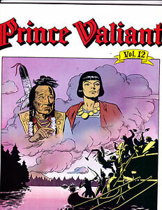 "Prince Valiant Vol 12-1991-Strip Reprints Soft Cover-"" New World -1st Print! """