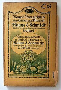 Catalogue La De Graines Et Plantes De Haage & Schmidt 1913
