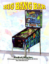 Pinball Mfg. Inc. BIG BANG BAR Remake Of Capcom Pinball Machine Sales Flyer Mint