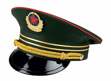 MENS RUSSIAN ARMY OFFICER CAP COMMISSAR CAP FANCY DRESS MILITARY COSTUME HAT NEW