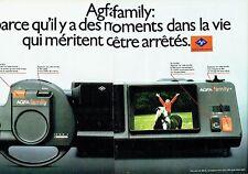 PUBLICITE ADVERTISING 027  1981  la caméra Agfa Family (2pages)