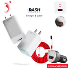 Original Oneplus 3 3T Dash Fast Charge Car Charger Adapter USB Type C Cable T6