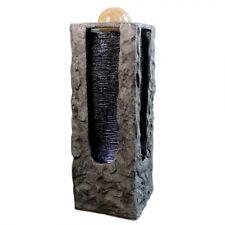 Zimmerbrunnen Höhe 90,5 cm Säule mit rollender Kugel und LED Beleuchtung IP44