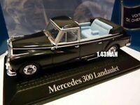 PR4M voiture 1/43 norev voitures de chefs d'état MERCEDES 300 Landaulet Adenauer