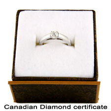 Fancy 14k White Gold Canadian Certified .45CT Diamond ring CDR-1
