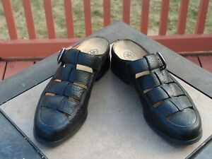 Women's Ariat 96801 Mules Clogs Shoes Size 7B Black Leather Buckle Casual ATS O1