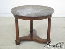 29683EC: BAKER Round Marble Top French Empire Center Table