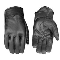 Men's Premium Leather Motorcycle Cruiser Touring Biker Gel Gloves