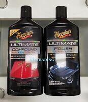 (2-Pack) Meguiar's Car ULTIMATE COMPOUND & POLISH Combo Waxing Glaze Max Gloss