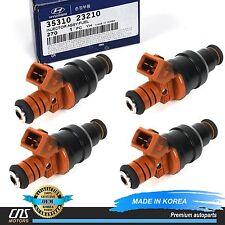 GENUINE Fuel Injector 4pcs for 97-01 Hyundai Elantra Tiburon 2.0L OEM 3531023210
