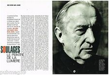 Coupure de presse Clipping 1992 (2 pages) Pierre Soulages