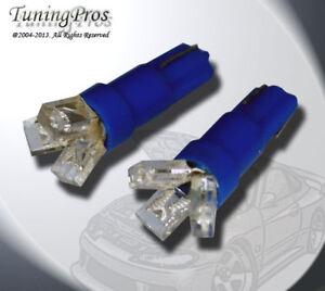 (1 Pair) Set of 2 pcs Ash Tray T5 3 Blue LED Light Bulbs 74 2721 37
