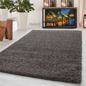 Modern Small X Large Soft Shaggy Non Slip Rug Bedroom Living Room Carpet- Taupe