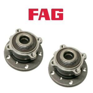For Mini Cooper R60 R61 Set of Front Left & Right Wheel Hub w/ Bearings FAG OEM