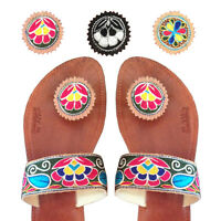 Paduka Sandals New Leather Womens Toe Post Shoes Flats Flip Flop Gladiator Thong