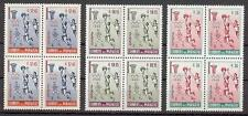 Paraguay 1960 Sc# C262-64 Airmail Basketball Olympic games Sport blocks 4 Mnh