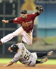 JOSE ALTUVE Houston Astros vs Pirates Double Play 8x10 Photo Matte Photograph
