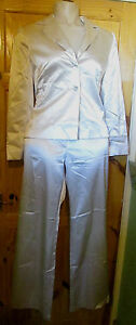 OFFSHOOT IVORY STRETCH SATIN TAILORED TROUSERSUIT 14/16 BNWT RRP £110.00** REDUC