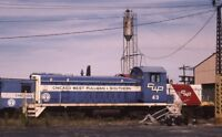 CHICAGO WEST PULLMAN & SOUTHERN Railroad Locomotive Original 1989 Photo Slide
