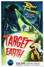 TARGET EARTH, Vintage Sci-Fi Movie Poster Rolled CANVAS PRINT 24x36 in.