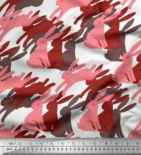 Soimoi Fabric Rabbit Animal Fabric Prints By Yard - AN-38I