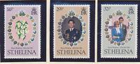 St. Helena Stamp Set Scott #353-5, Mint Very Lightly Hinged, Royal Wedding