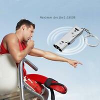 Double Tube Whistle Lifesaving Emergency Device SOS Outdoor Survival EDC Tools.