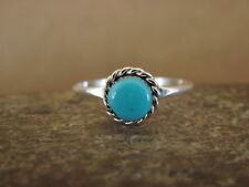 Native American Jewelry Sterling Silver Turquoise Ring! Size 7 1/2 Geneva Chuyat