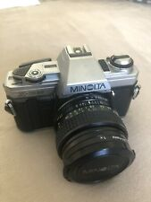 Minolta X-300 mit MC Rokkor 1:2.8 28 mm Objektiv und UV Filter