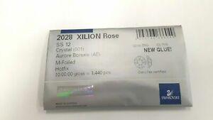 sealed package,1440 swarovski hot-fix xilion flatbacks,12ss crystal AB #2028