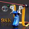 LASER Slingshot Catapult with Flat Rubber Band LEVEL Outdoor Hunting Shooting