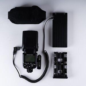 Lot* Nikon Speedlight SB-910 AF TTL Hot Shoe Mount Flash & SD-9 Battery Pack
