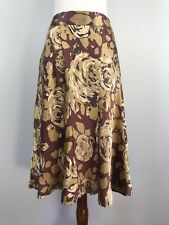 Theory Didi Size 8 Silk Skirt Gold and Rose Color